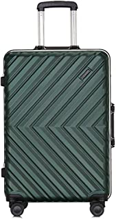 Suitcase with Built-in TSA Lock - Zipperless Inch Hardside Carry On Bag- Lightweight (ABS+PC) Luggage,Green,24inch