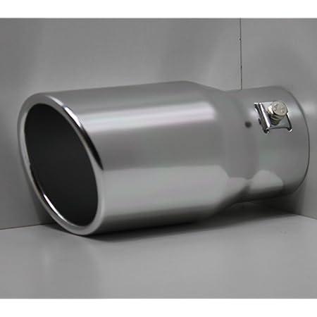 Unbekannt Auspuffblende Aluminium Auspuff Endrohr Blende Zum Anschrauben Alu Rund 78mm Auto
