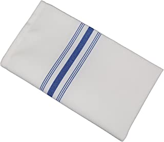 RC ROYAL CREST by Sigmatex-Lanier Textiles Cloth Dinner Bistro Napkins Restaurant Quality 18 x 22 Inches 12 Pack (Royal Blue Stripes)