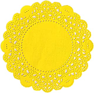 Doilykorea - Premium (3.5inch, 250pcs) Disposable Round Paper Doily - Non-Dust, Clean-Cut, Simple design - Lovely Lace Doilies with Various Color : Party/Gift/Flower wrap/for Table [3.5