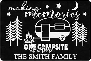 """FunStudio Personalized Camper Rv Doormat with Making Memories One Campsite at A Time 24"""" X 16"""" Indoor Outdoor Welcome Door..."""