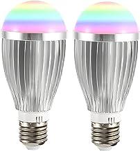 WiFi Smart Lamp, 18W Dimbare RGBCW Multicolor Gloeilamp Werk Met Alexa, Google Home, Cool Wit Tot Warm Wit, Geen Hub Verei...