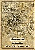 Nashville Tennessee USA Vintage Karte Poster Nashville