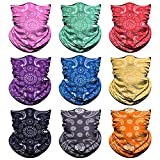 Neck Gaiter, Magic Headband Sport Headwear Elastic Face Mask Bandana Scarf UV Resistence Balaclava, Headwrap Helmet...