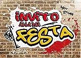Edition Colibri 10 inviti per Festa di Compleanno; Motivo: Graffiti / inviti di Compleanno per Bambini / in Italiano (11030 IT)
