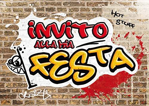 Edition Colibri 10 inviti per Festa di Compleanno; Motivo: Graffiti / inviti di Compleanno per...