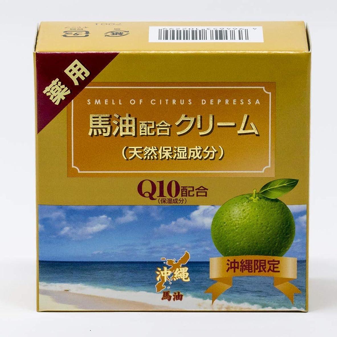 半円思い出す貼り直す薬用 馬油クリーム シークヮーサーの香り Q10配合(沖縄限定)