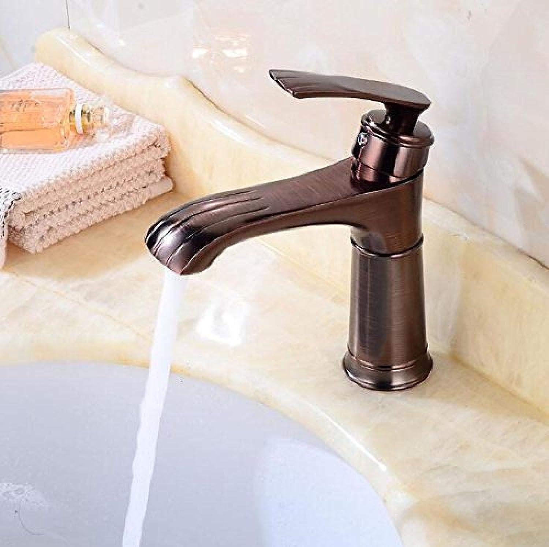 Neue Waschtischarmaturen Messing l Eingerieben Bronze Waschbecken Wasserhahn Einhebel Deck Waschbecken Wasserhahn Schwarz Kran Kugel
