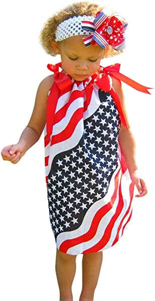 Baby Boy Patriotic 27th Of July Outfits Sleeveless T Shirt Top Harem Pants