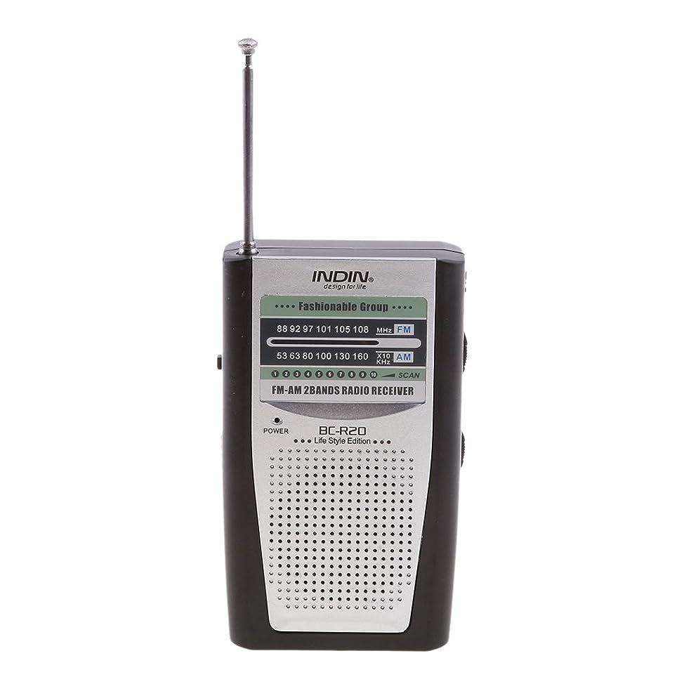 ストレスの多い住所モットーポータブルバッテリ駆動のAM/FMラジオ受信機