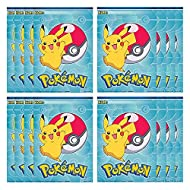 Pokemon 16 Pack Pikachu Party Plastic Loot Treat Candy Favor Bags (Plus Party Planning Checklist by Mikes Super Store)