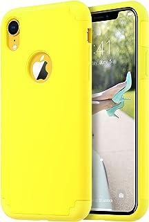 coque iphone xr jaune moutarde