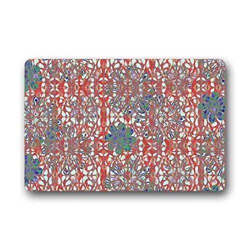 Doubee Premium Tapis Cachemire Pied Générique Tapis Anti-Poussière rectangulaire antidérapant Porte Tapis 60 cm x 40 cm, Tissu, E, 23.6\