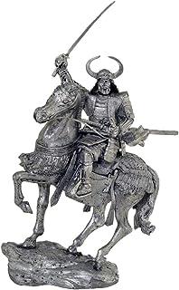 長野の戦いで織田信義の仲間である滝川和益、1575年 54mm(1/32スケール)ミニチュアフィギュア。ブリキおもちゃの兵隊