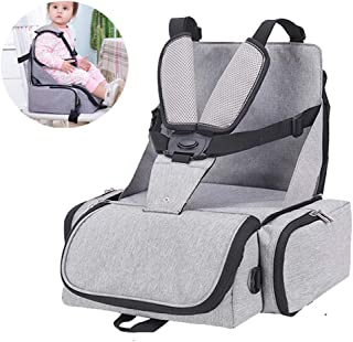Travel Booster seat,Foldable,Ideal as high Chair for Babies & Toddlers for Journeys
