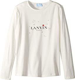 Long Sleeve Logo T-Shirt with Printed Bubbles (Big Kids)