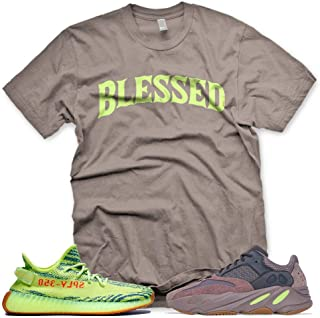 New Brown BW BLESSED T Shirt for Adidas Yeezy Boost 700 Mauve 350 Semi Frozen