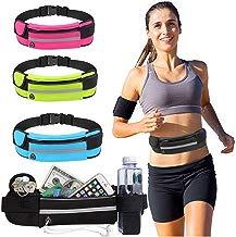 Eroihe Bolsa de Cintura Mujer Hombre Bolsa de Cintura para Teléfono Antirrobo Impermeable para Correr al Aire Libre con Auriculares Agujero