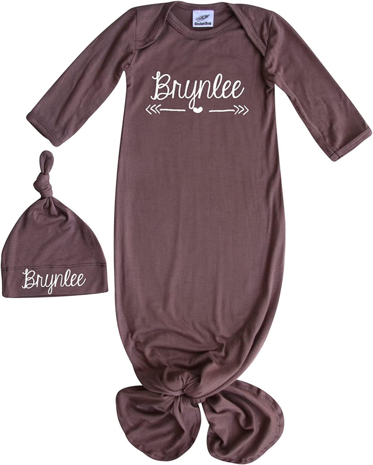 2021 Ranking TOP14 Silky Knotted Baby Gown with Personalized Boys Hat G