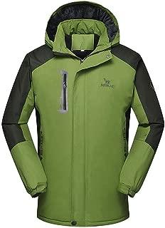Mens Windbreaker Jackets, Men's Mountain Jacket Waterproof Winter Ski Coat Windproof Outerwear Coat