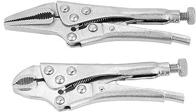 2 peças de suporte de boca reta mandíbula trava torno garra ferramenta alicate de travamento