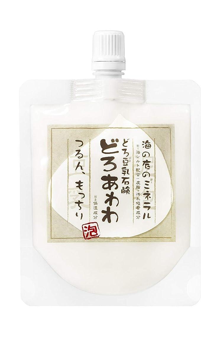 鮫思いつく気難しい【ネット付】どろ豆乳石鹸 どろあわわ 110g