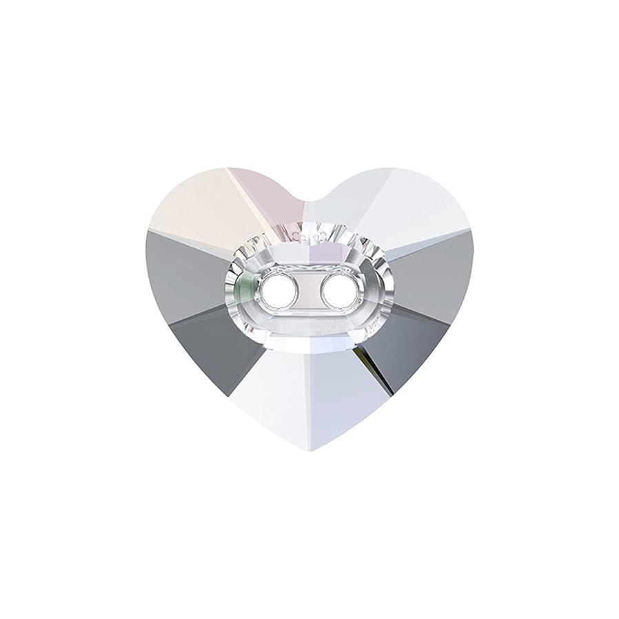 世界の窓洞察力寝るスワロフスキー(R) クリスタル ボタン ハート型16×14mm 36個入り クリア オーロラ加工 501751936#001AB