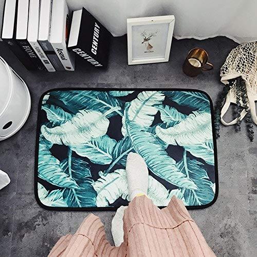 CCMOO Persönlichkeit Stil Teppich Folk Stil Runde Wohnzimmer Schlafzimmer Computer Stuhl Kissen Decke Zelt Flur Matte Teppich-Sky Blue, 50x70 cm