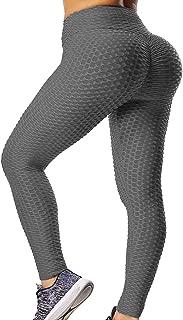 GILLYA Booty Yoga Pants Women High Waisted Ruched Butt Lift Textured Scrunch Leggings