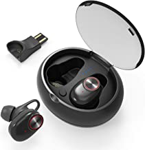Wireless Earbuds, UTRAI True Wireless Stereo 5.0 Bluetooth Earbuds TWS Earphones Noise Cancelling Headphones in-Ear Sport Headset with IPX5 Waterproof, 6H Playtime per Charge, Built-in Mic (Black)