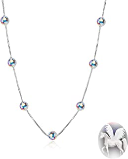 """Birthday Gifts """"Purity of Love"""" Crystals from Swarovski 925 Sterling Silver hypoallergenic Bracelet Necklace Pendant Chain, Jewelry for women"""
