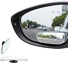 TRUE LINE Automotive Frameless 360 2 Piece Mirror Blind Spot Mirror Kit 360 Degree Adjustable Ultra Safety Stick on