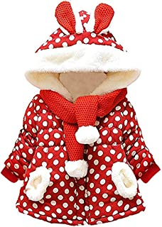 Baby Girl's Toddler Kids Fall Winter Coat Jacket Outwear Ear Hoodie Sweatshirt