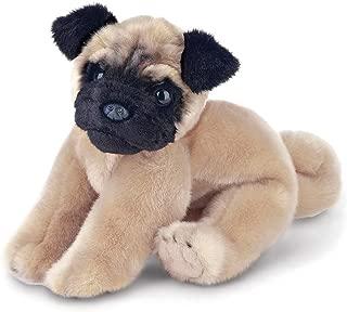 Bearington Pugsly Pug Plush Stuffed Animal Puppy Dog, 13 inches