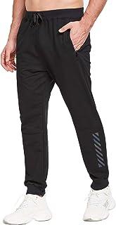 JustSun Tracksuit Bottoms Mens Joggers Slim Fit Sports Trousers Zip Pockets