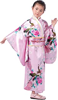 Japanese Traditional Dress Kimono Robe for Kids Girls Costume