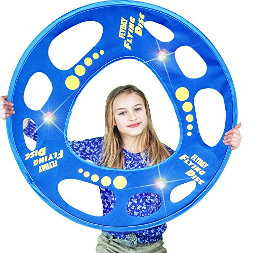 FLYDAY Flying Disc Soft for Kids with LED Lights Flying Ring,Birthday Outdoor Play