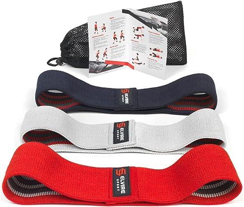 ELVIRE SPORT Bande Elastique Fitness (Lot de 3)   Elastique Musculation pour Fessiers, Hanches et Jambes   Bande de R...