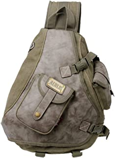 Lanica One Strap Sling Cross Body Shoulder Backpack Travel Rucksack (Army Green)