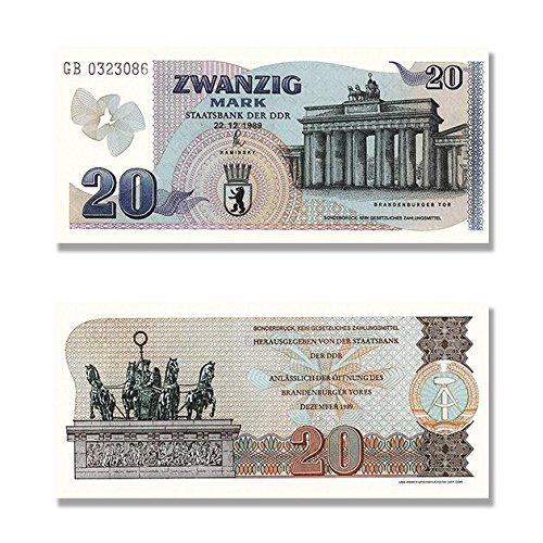 20 Mark DDR Geldschein, Sonderdruck von 1989, TOP Reproduktion