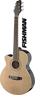 Stagg SA40MJCFI-LH N Left Handed Mini Jumbo Cutaway Acoustic-Electric Guitar with FISHMAN Preamp Electronics - Natural