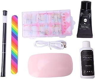 3 piezas de esmalte de uñas de gel, conjunto de herramientas para decoración de uñas, secador de uñas, extensión de lámpara, constructor de pegamento(Transparente)