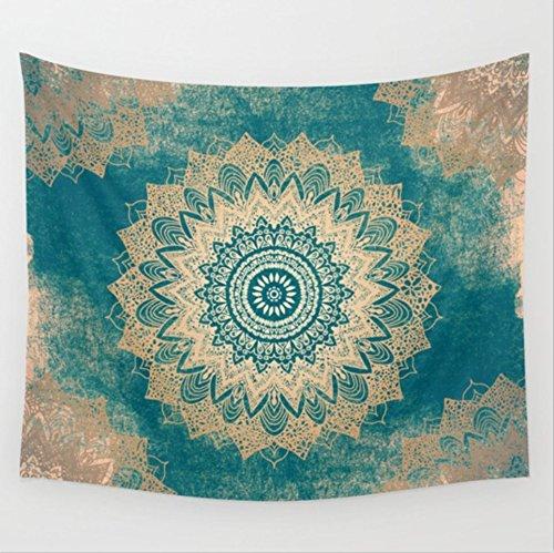 Goldbeing indischer Wandteppich Wandbehang Mandala Tuch Wandtuch Gobelin Tapestry Goa Indien Hippie-/ Boho Stil als Dekotuch/Tagesdecke indisch orientalisch Psychedelic (203 x 153cm, Style 9)