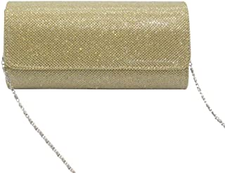 Fashionable Bright Crystal Bag Clutch Bag Female Bag Messenger Bag Chain Bag Evening Bag Clutch Bag Clutch Bag Dinner Bag Female (Color : Gold)