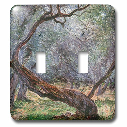 3dRose lsp_126609_2 Study of Olive Trees by Claude Monet, 1884 Light Switch Cover