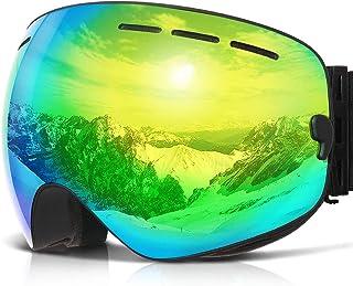 b72bde9a5f1 Amazon.com  snowboard goggles for glasses