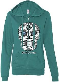 California Republic Sugar Skull Ladies Zip-Up Hoodie