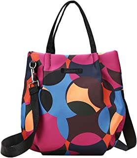 Ultramall Fashion Trend Casual Print Handbag Waterproof Oxford Nylon Cloth Bag