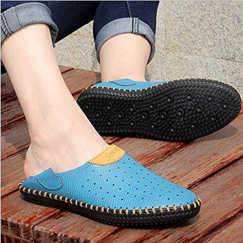 XSMG zomer grote maten sandalen mannen echt leer Rome gat schoenen ademende schoenen