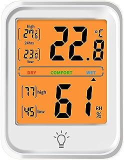 shoplease Mini Termohigrometro, Medidor Temperatura y Humedad, Termometros de Pared Higrometro Digital con LCD para Hogar,...
